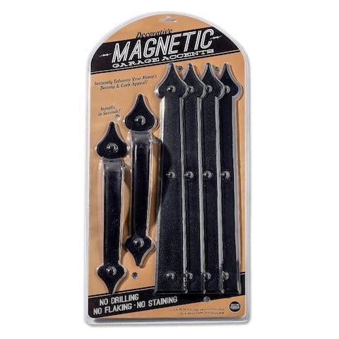 Cre8tive Hardware Classic Spade Magnetic Garage Door Hardware Set (6 piece)
