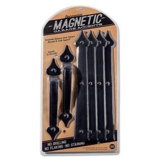Cre8tive Hardware Classic Spade Magnetic Garage Door Hardware Set (6 piece)