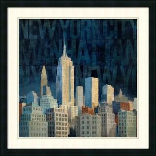 Avery Tillmon 'Midnight in Midtown Words' Framed Art Print 26 x 26-inch