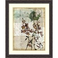 Framed Art Print 'Music Box Floral II' by Jennifer Goldberger 26 x 32-inch