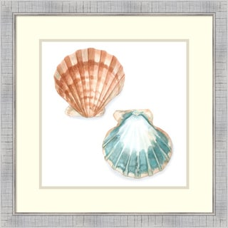 Megan Meagher 'Watercolor Shells I' Framed Art Print 25 x 25-inch