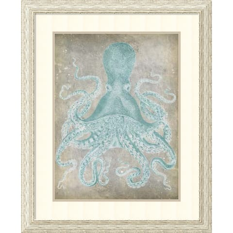 Framed Art Print 'Spa Octopus I' by Jennifer Goldberger 28 x 34-inch