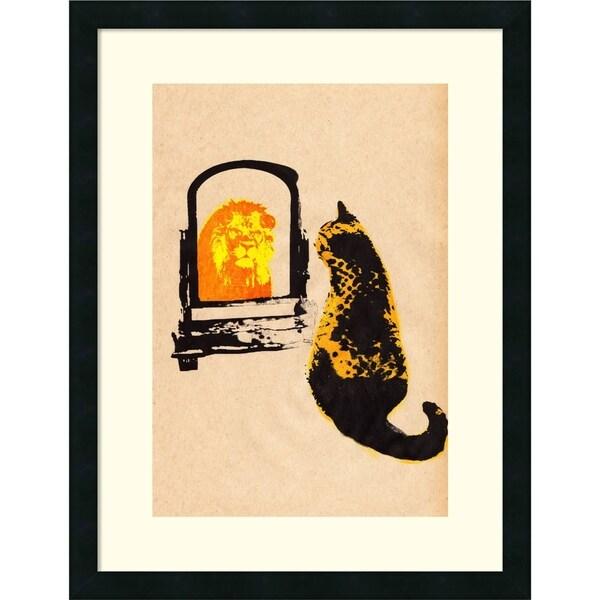 Katie Edwards \'Think Big Brown\' Framed Art Print 20 x 26-inch - Free ...