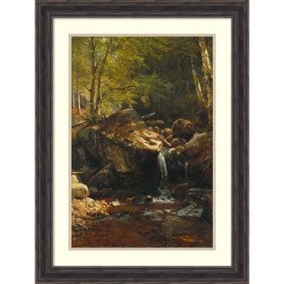 Framed Art Print 'Thompson Cascade, White Mountains' by Albert Bierstadt 23 x 31-inch