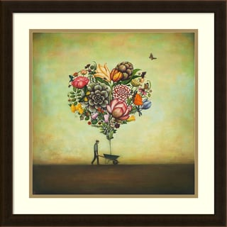 Duy Huynh 'Big Heart Botany' Framed Art Print 22 x 22-inch
