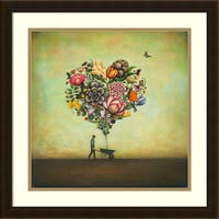 Framed Art Print 'Big Heart Botany' by Duy Huynh 22 x 22-inch
