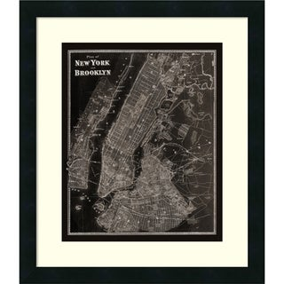 Beers 'The Plan of New York and Brooklyn, 1867' Framed Art Print 18 x 21-inch