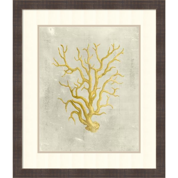 Framed Art Print 'Coral in Mustard' by Vision Studio 25 x 29-inch
