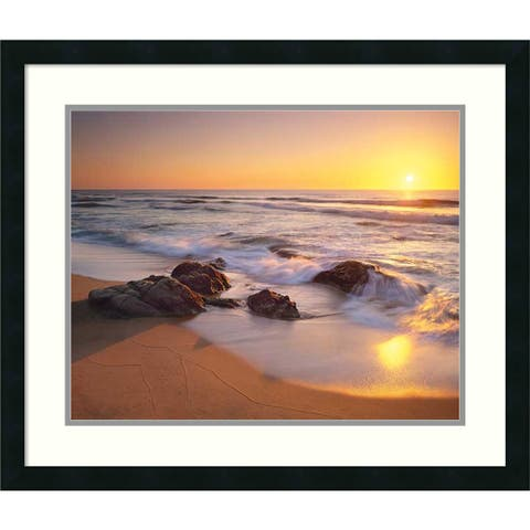 Framed Art Print 'Pacific Calm' by Christopher Foster 27 x 23-inch