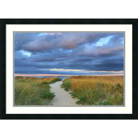 Framed Art Print 'Jetties Beach Path' by Katherine Gendreau 30 x 22-inch