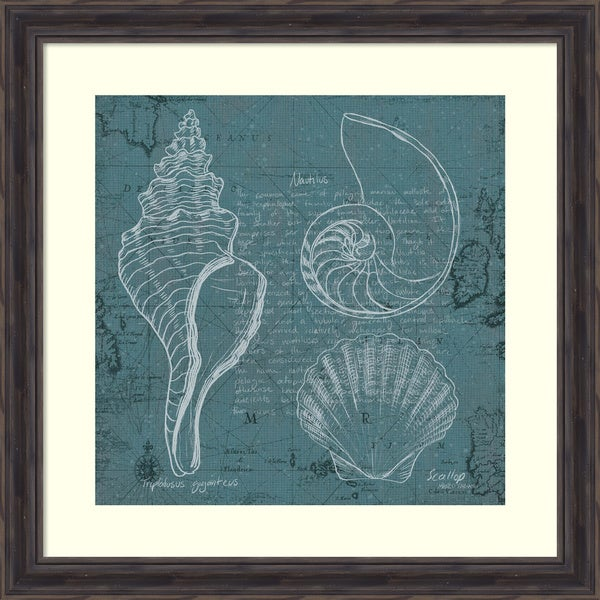 Framed Art Print \'Coastal Blueprint I\' by Marco Fabiano 27 x 27-inch ...