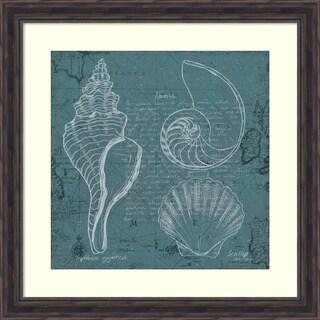Framed Art Print 'Coastal Blueprint I' by Marco Fabiano 27 x 27-inch