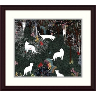Art and Ghosts 'Cat Heaven' Framed Art Print 30 x 27-inch