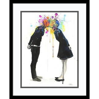 Lora Zombie 'Big Bang Kiss' Framed Art Print 17 x 21-inch