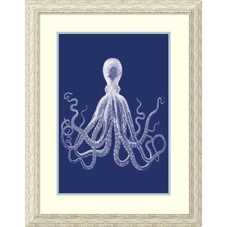 Vision Studio 'Indigo Octopus I (PS)' Framed Art Print 25 x 32-inch