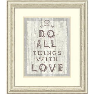 Framed Art Print 'Do All Things Driftwood' by Sue Schlabach 25 x 28-inch