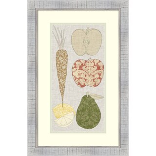 Framed Art Print 'Contour Fruits and Veggies VII' by Vision Studio 17 x 26-inch