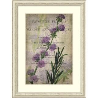 John Butler 'Favorite Flowers I' Framed Art Print 31 x 41-inch