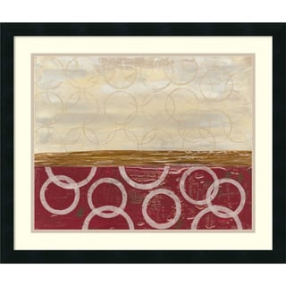Framed Art Print 'Going in Circles I' by Natalie Avondet 26 x 22-inch