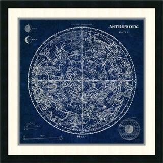 Susan Schlabach 'Celestial Blueprint' Framed Art Print 26 x 26-inch