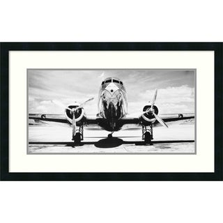 Philip Gendreau 'Passenger Airplane on Runway' Framed Art Print 32 x 20-inch