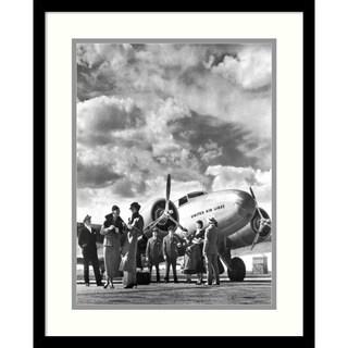 Philip Gendreau 'Passenger at Aviation Field at Newark NJ, 1940s' Framed Art Print 17 x 21-inch