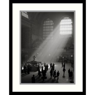 Philip Gendreau 'Sunbeams Streaming into Grand Central Station, NYC' Framed Art Print 17 x 21-inch