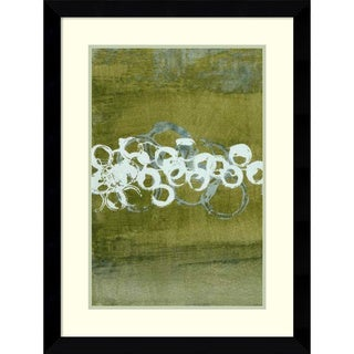 Framed Art Print 'Green Orbs I' by Charles McMullen 25 x 33-inch