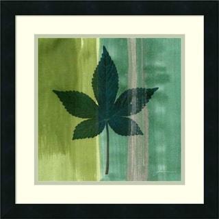 James Burghardt 'Silver Leaf Tile IV' Framed Art Print 18 x 18-inch