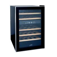 SPT WC-2463W 24-Bottle Dual-Zone Thermo-Electric Wine Cooler with Wooden Shelves