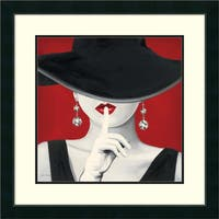 Framed Art Print 'Haute Chapeau Rouge I' by Marco Fabiano 27 x 27-inch