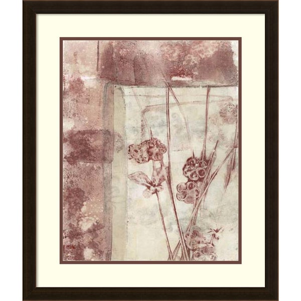 Framed Art Print 'Framed Blossoms I' by Jennifer Goldberger 23 x 27-inch