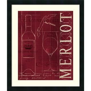 Marco Fabiano 'Wine Blueprint II v2' Framed Art Print 21 x 25-inch