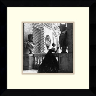 Genevieve Naylor 'Evening Dress, Roma, 1952' Framed Art Print 11 x 11-inch