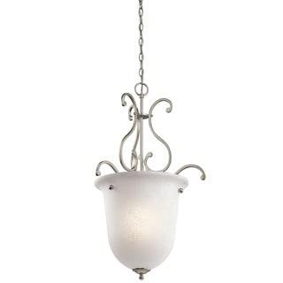 Kichler Lighting Camerena Collection 1-light Brushed Nickel Foyer Pendant