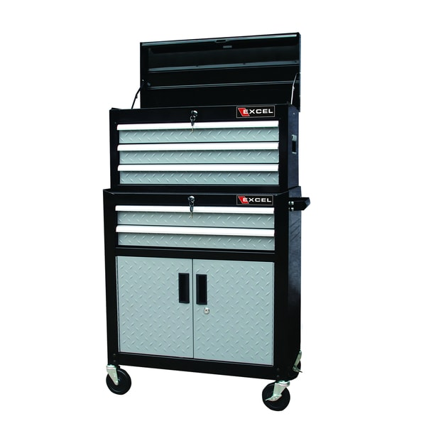 Excel TB2035-AB Tool Chest and Roller Cabinet Combination - Free ...