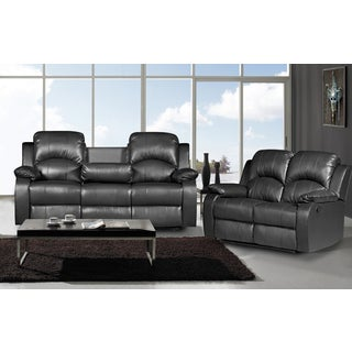 Nadia 2-piece Bonded Leather Recliner Sofa Loveseat Set