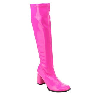 Funtasma Gogo-300uv Women's 3-inch Heel, Full Inner Side Zipper Knee High Boot (Option: Pink)|https://ak1.ostkcdn.com/images/products/10467459/P17558169.jpg?impolicy=medium