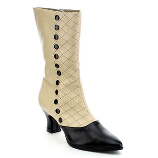 Funtasma Victorian-123 Women's Kitten Heel Two Tone Mid-calf Boot
