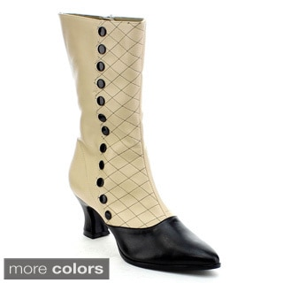 Funtasma Victorian-123 Women's Kitten Heel Two Tone Mid-calf Boot