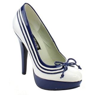Funtasma Lolita-13 Women's 5-inch Heel Striped Bow Platform Pump