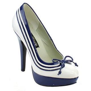 Funtasma Lolita-13 Women's 5-inch Heel Striped Bow Platform Pump