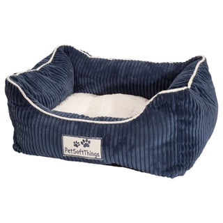 Pet Soft Things Corduroy Applique Pet Bed