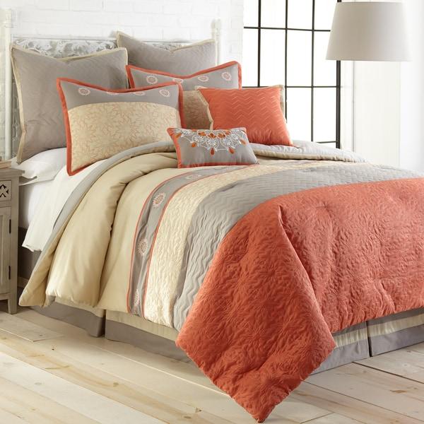 Amraupur Overseas Zarine 8-Piece Embroidered Comforter Set