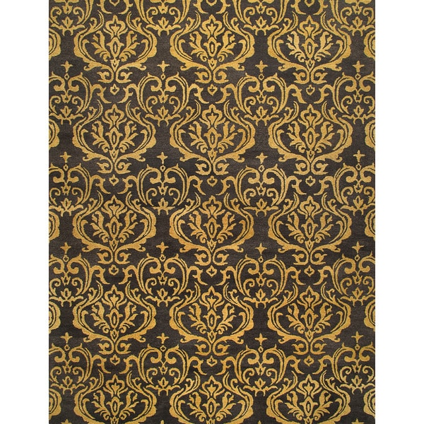Shop ABC Accents Valencia Field Charcoal Wool Rug