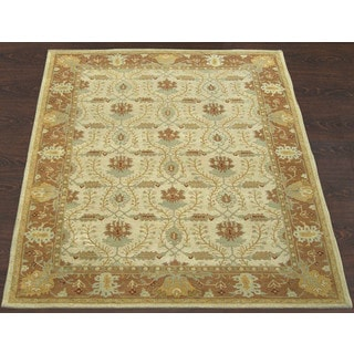 ABC Accents Arts and Crafts Brandon Beige Wool Rug (9' x 12')