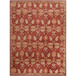 ABC Accents Valencia Floral Red Wool Rug (9' x 12')