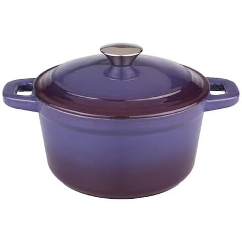Neo 7-quart Cast Iron Purple Round Covered Casserole Dish