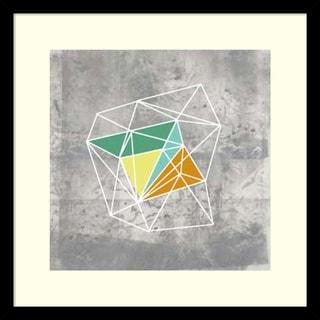 Jennifer Goldberger 'Geomolecule III' Framed Art Print 17 x 17-inch