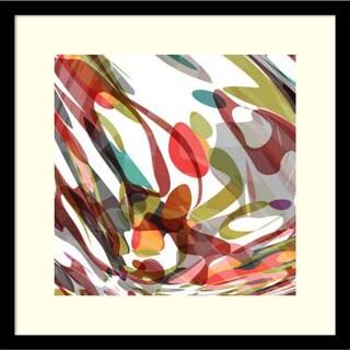 James Burghardt 'Surprise I' Framed Art Print 17 x 17-inch